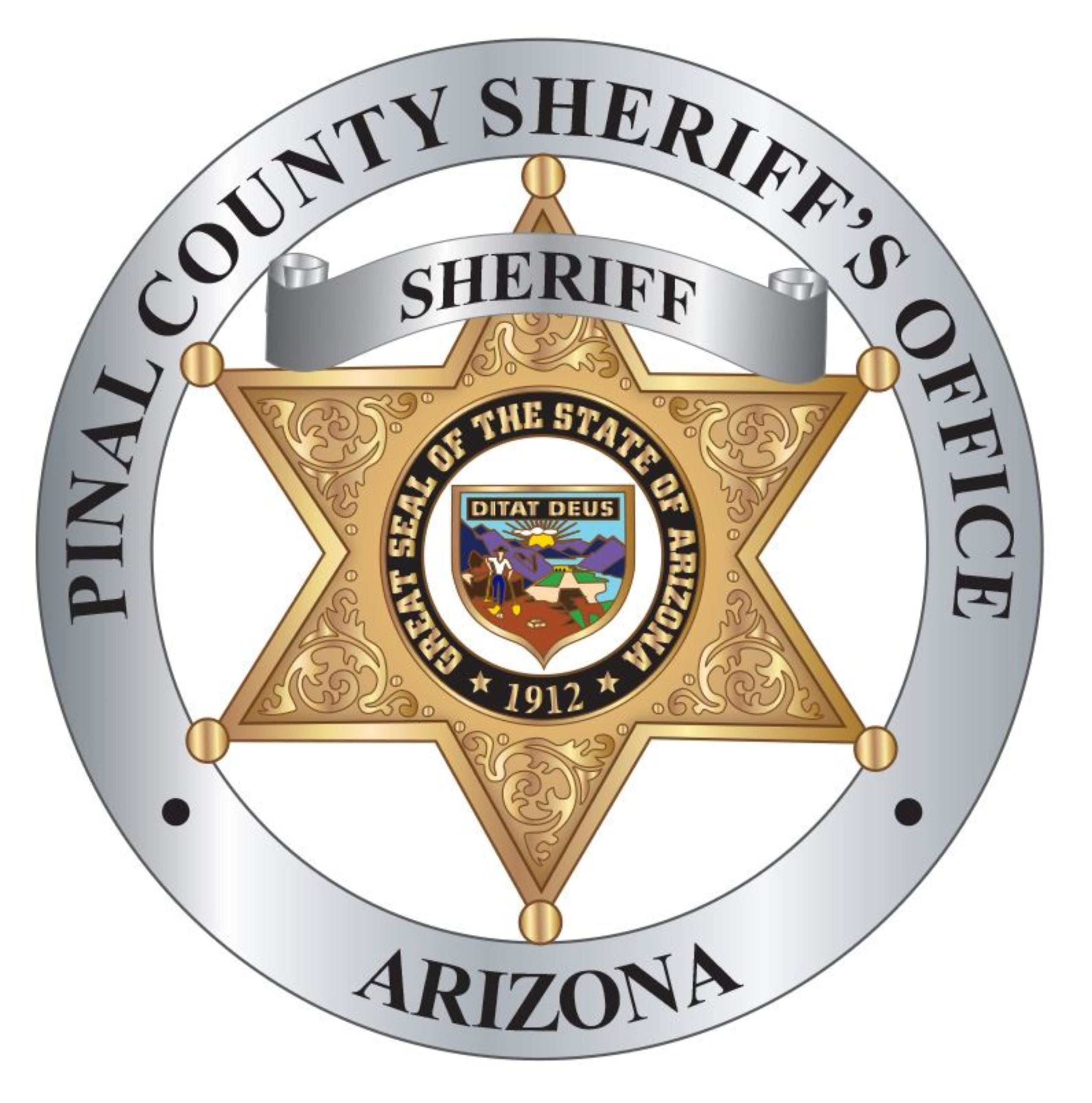 Pinal County Badge White background