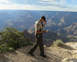 Officer at the grand canyon